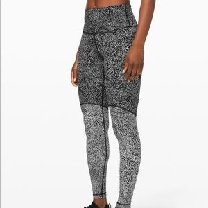 Lululemon Wunder Under HR Tight- Blocked